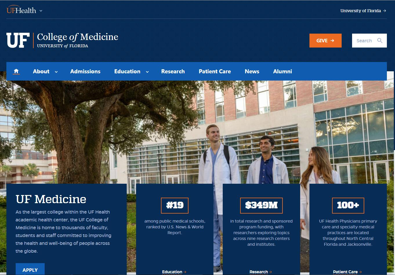 The College of Medicine at University of Florida