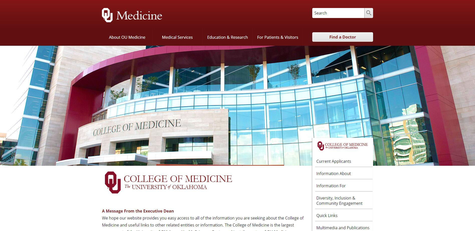 The College of Medicine at University of Oklahoma
