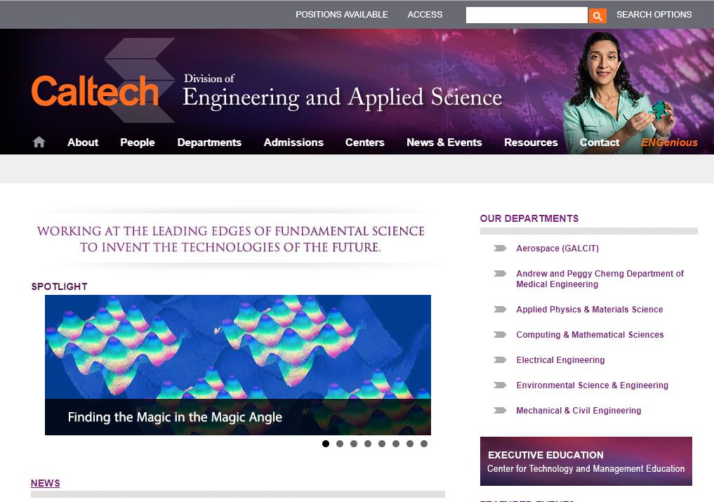 The Division of Engineering and Applied Science at California Institute of Technology