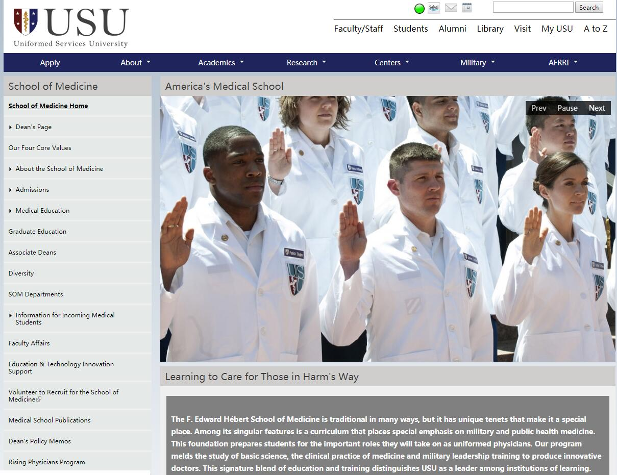 The F. Edward Hebert School of Medicine at Uniformed Services University of the Health Sciences