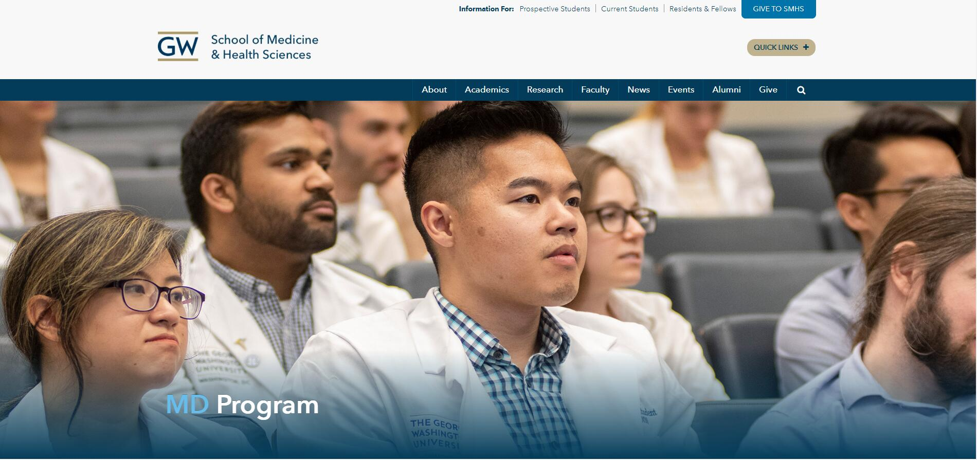 The School of Medicine and Health Sciences at George Washington University