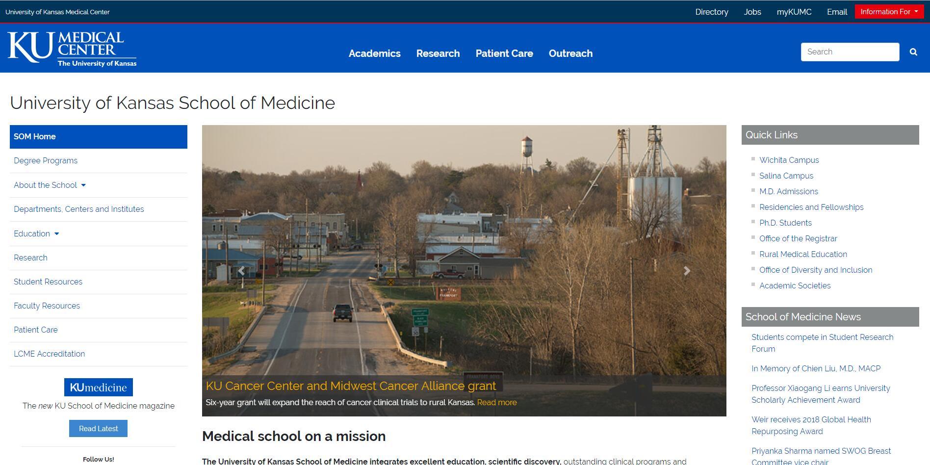 The School of Medicine at University of Kansas