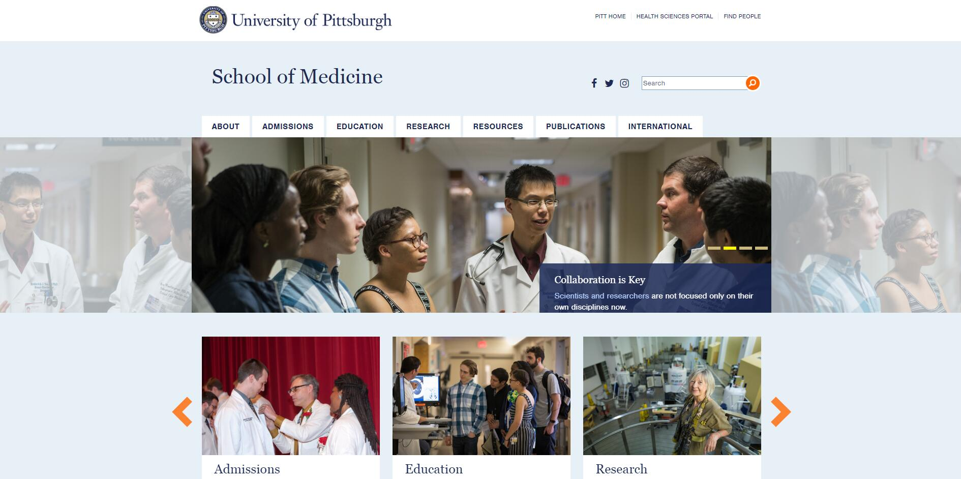 The School of Medicine at University of Pittsburgh