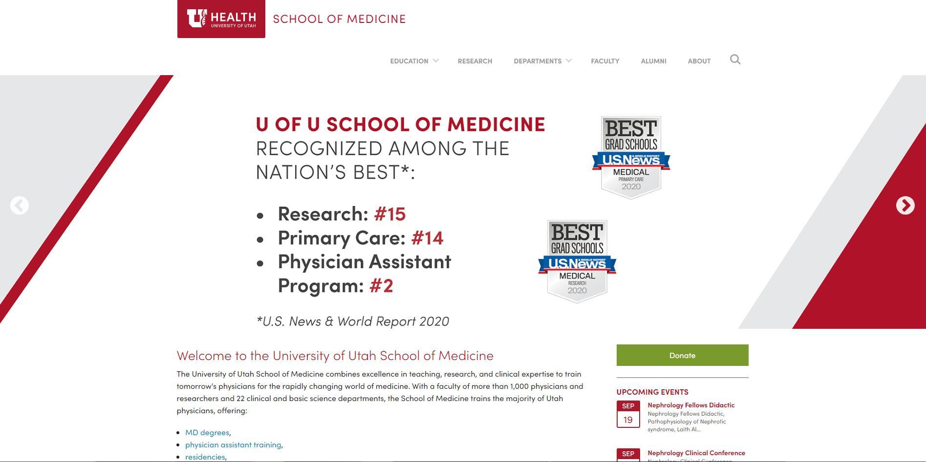 The School of Medicine at University of Utah