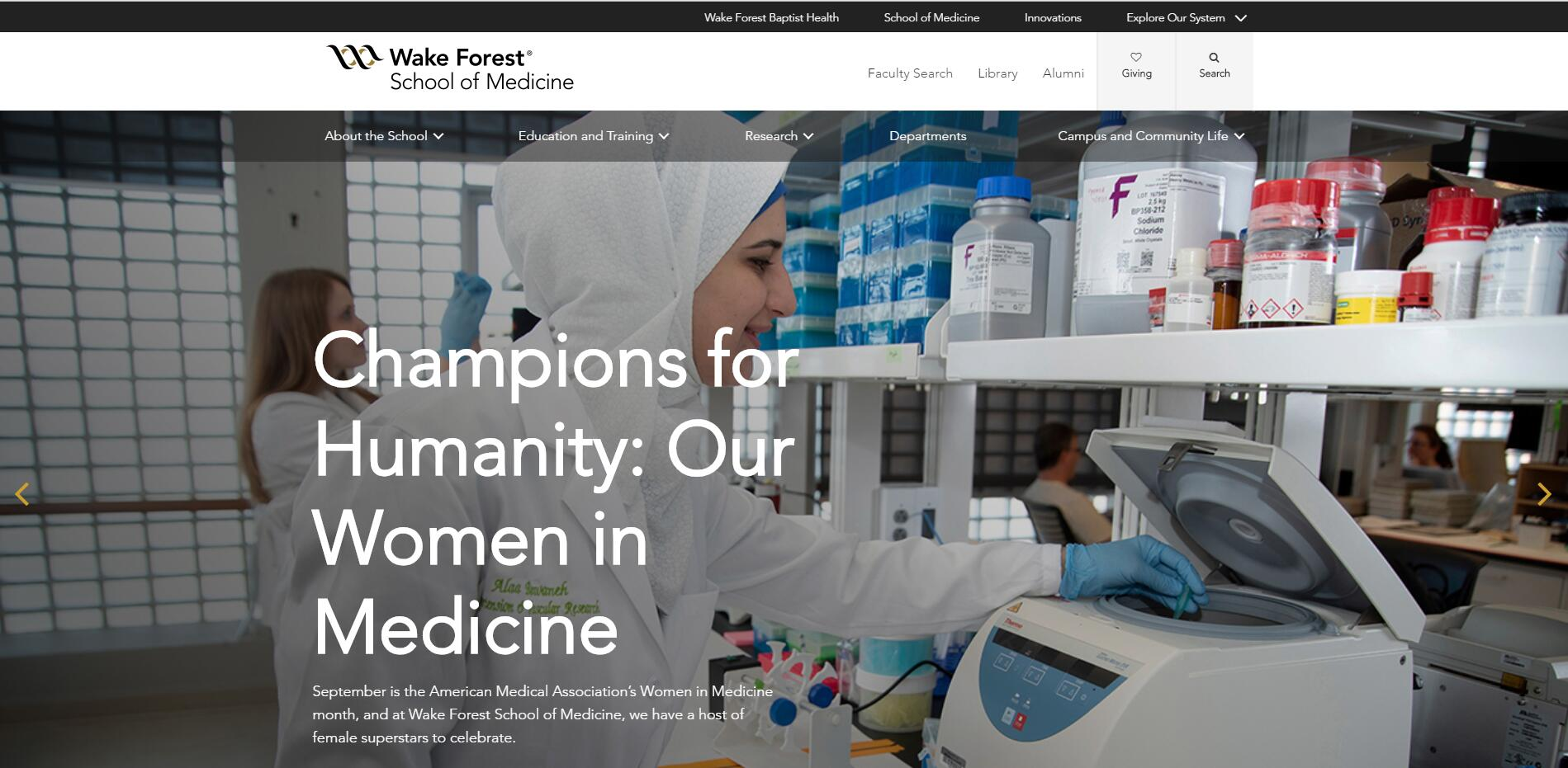 The School of Medicine at Wake Forest University