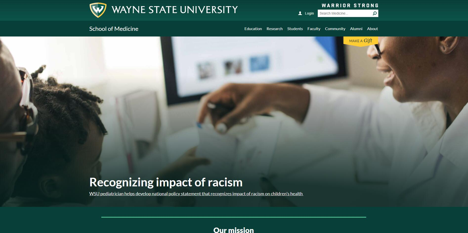The School of Medicine at Wayne State University