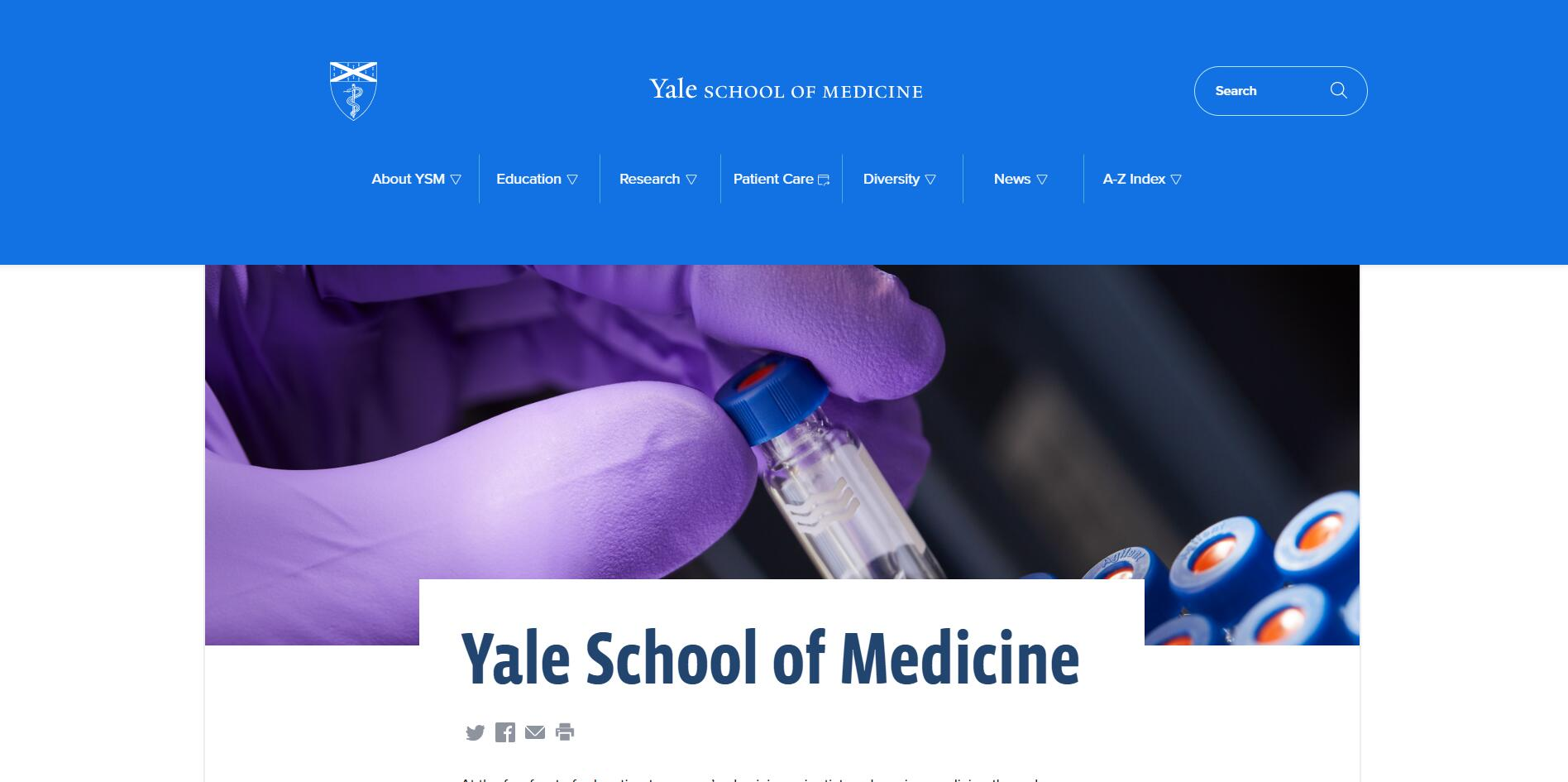 The School of Medicine at Yale University