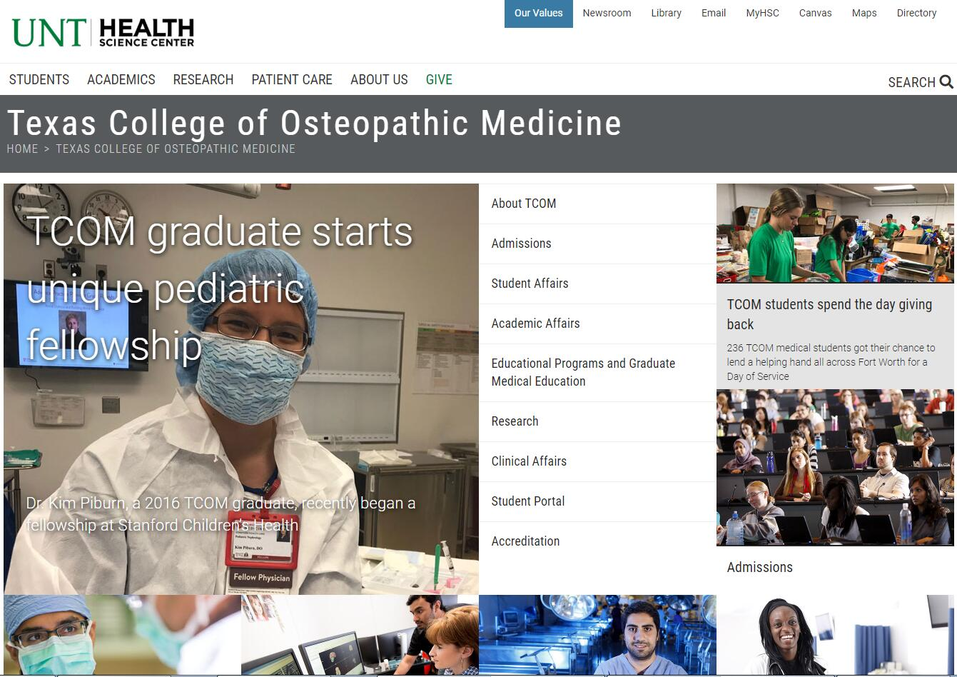 The Texas College of Osteopathic Medicine at University of North Texas Health Science Center
