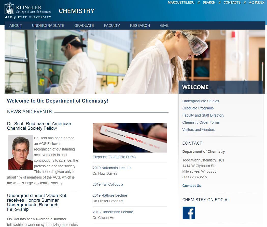 Top 160 Chemistry Schools