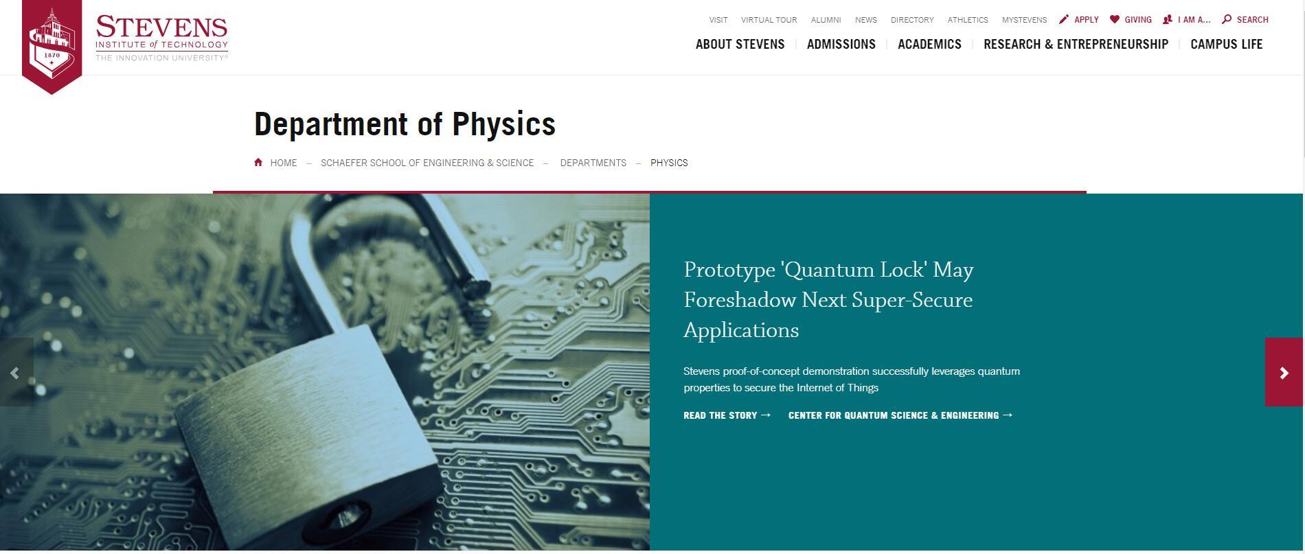 Top 160 Physics Schools