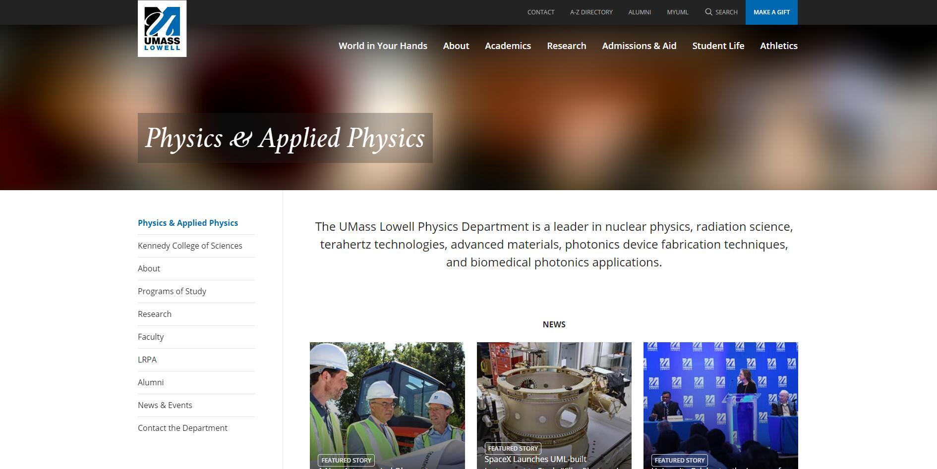 Top 170 Physics Schools