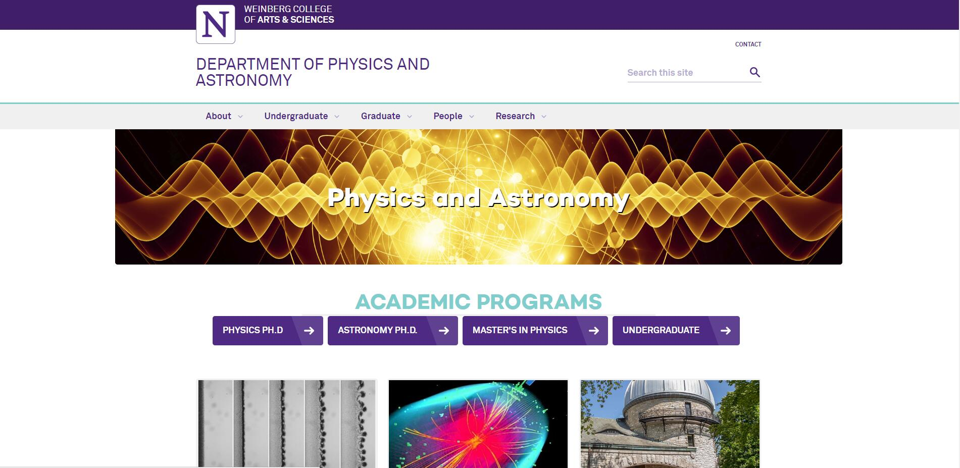 Top 60 Physics Schools