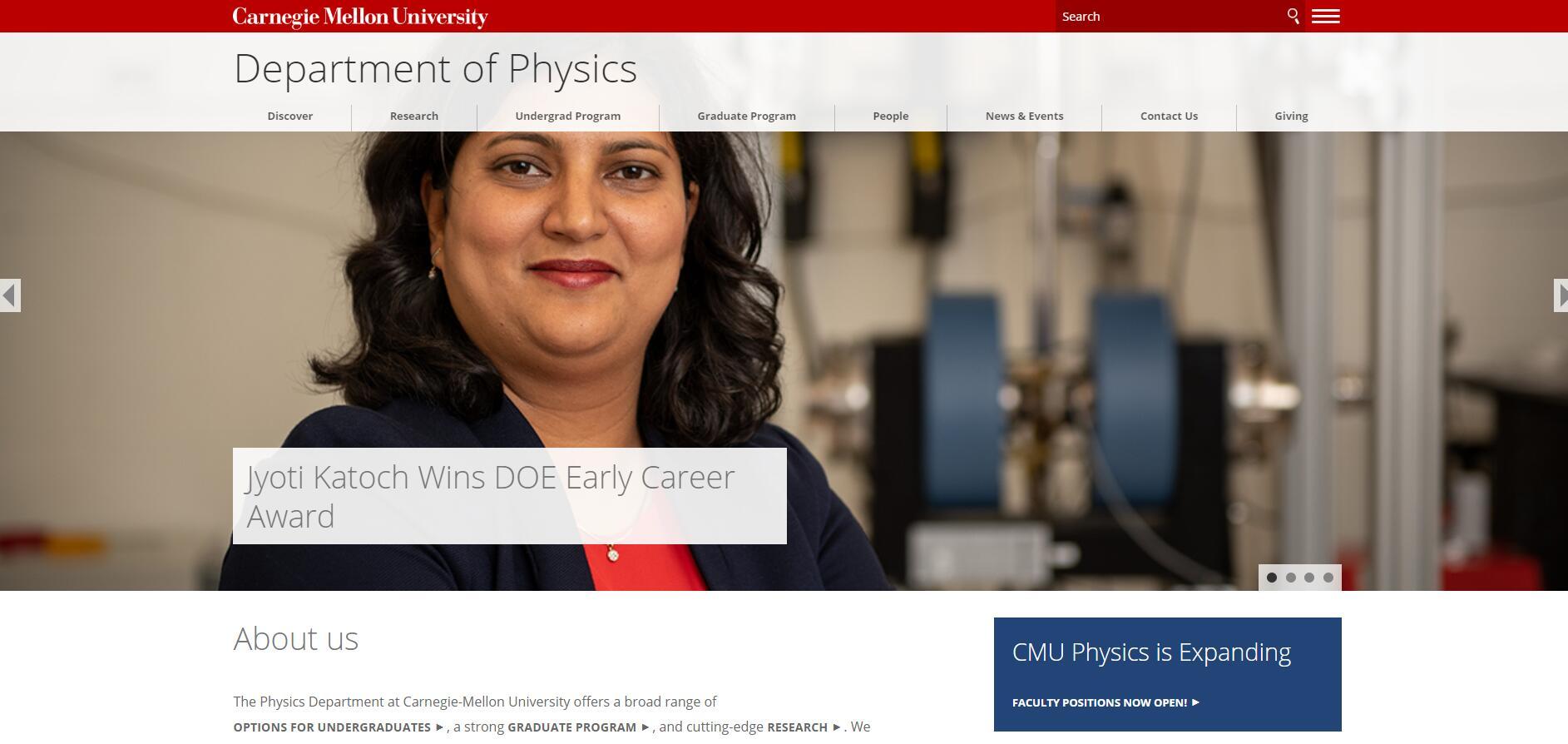 Top 70 Physics Schools