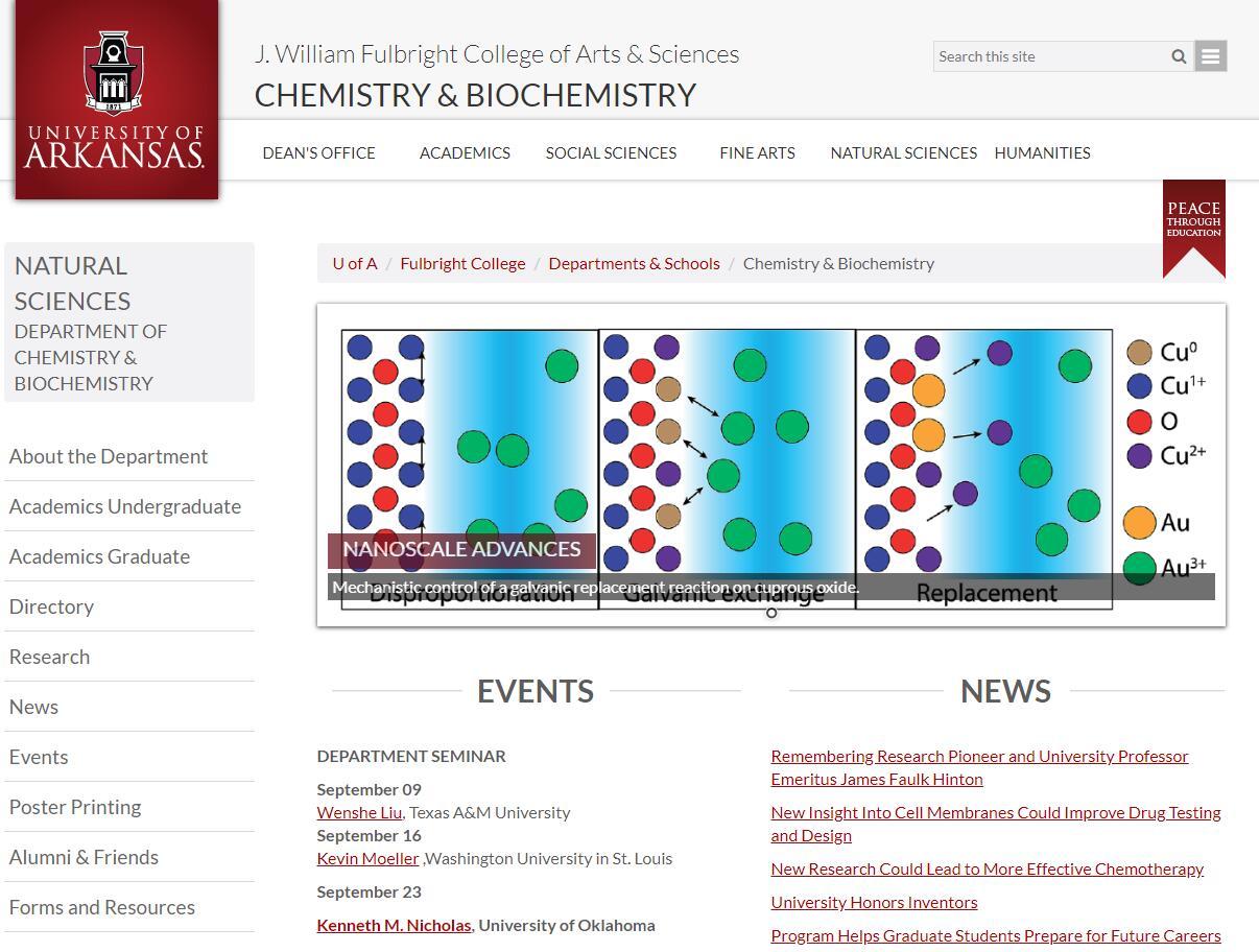Top Chemistry Schools in Arkansas