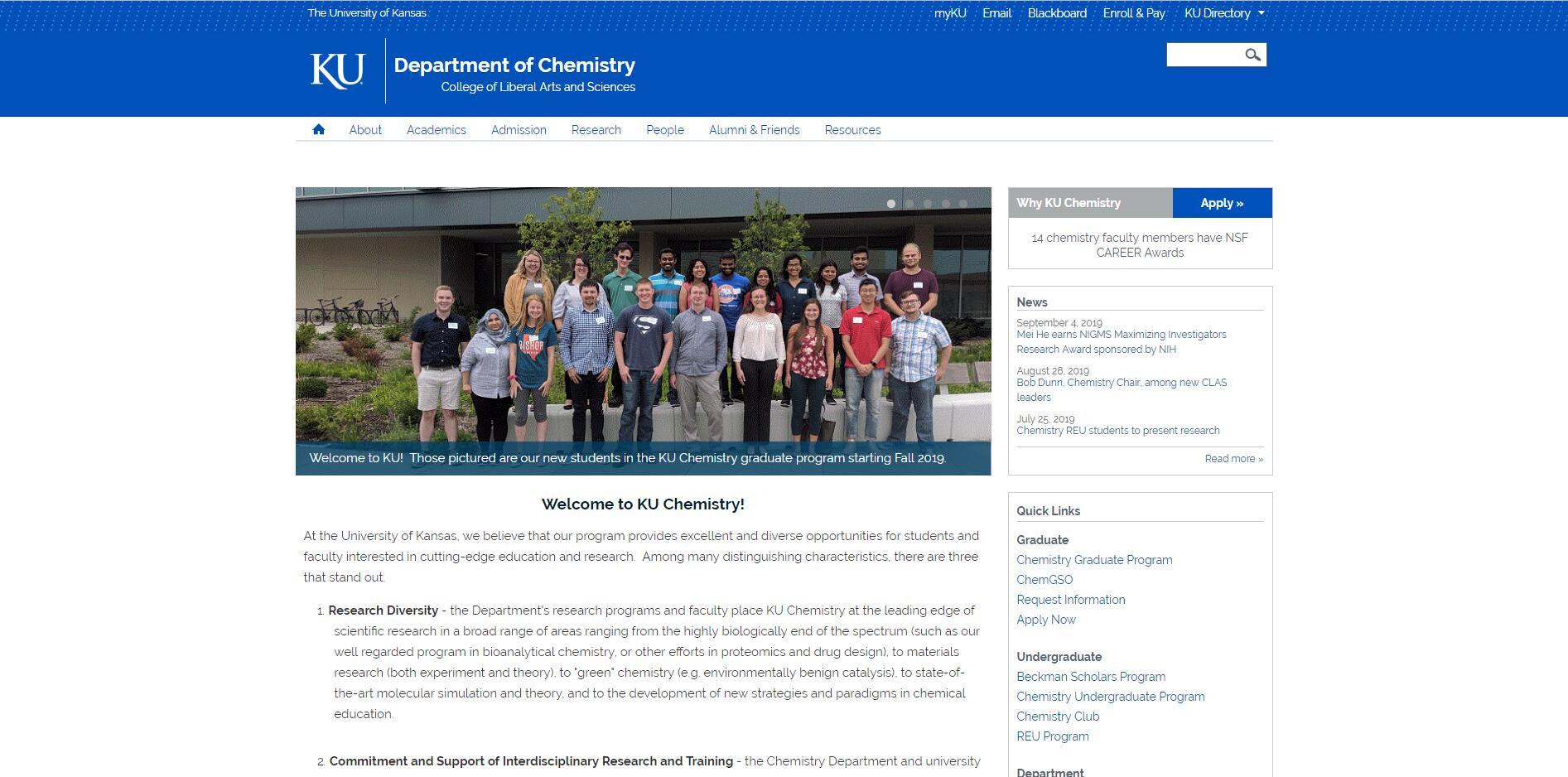 Top Chemistry Schools in Kansas