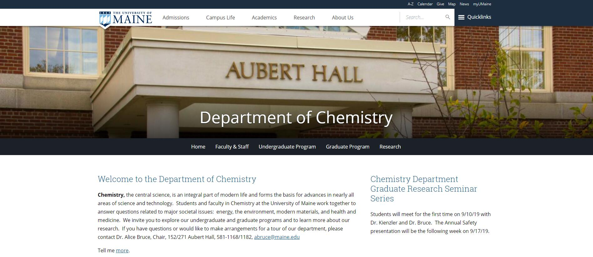 Top Chemistry Schools in Maine