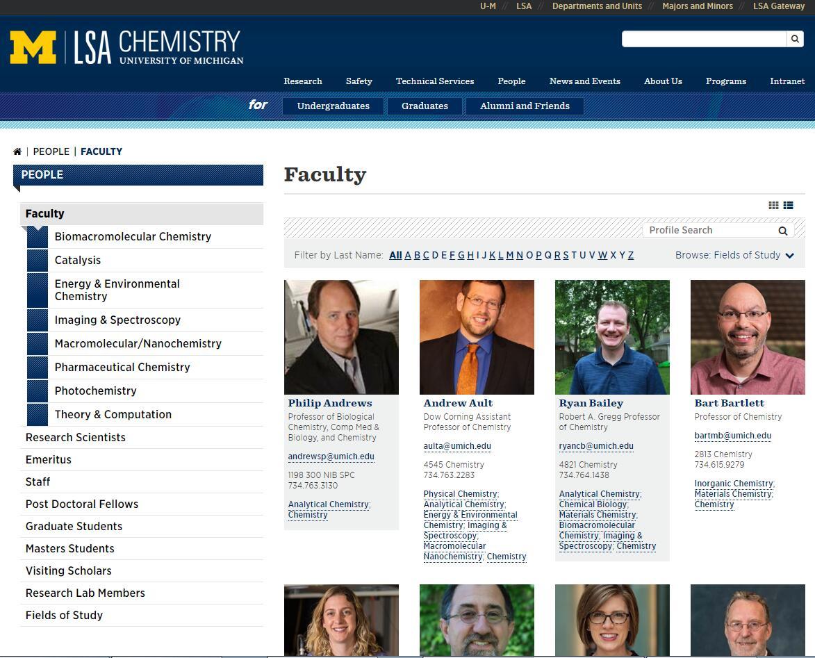 Top Chemistry Schools in Michigan
