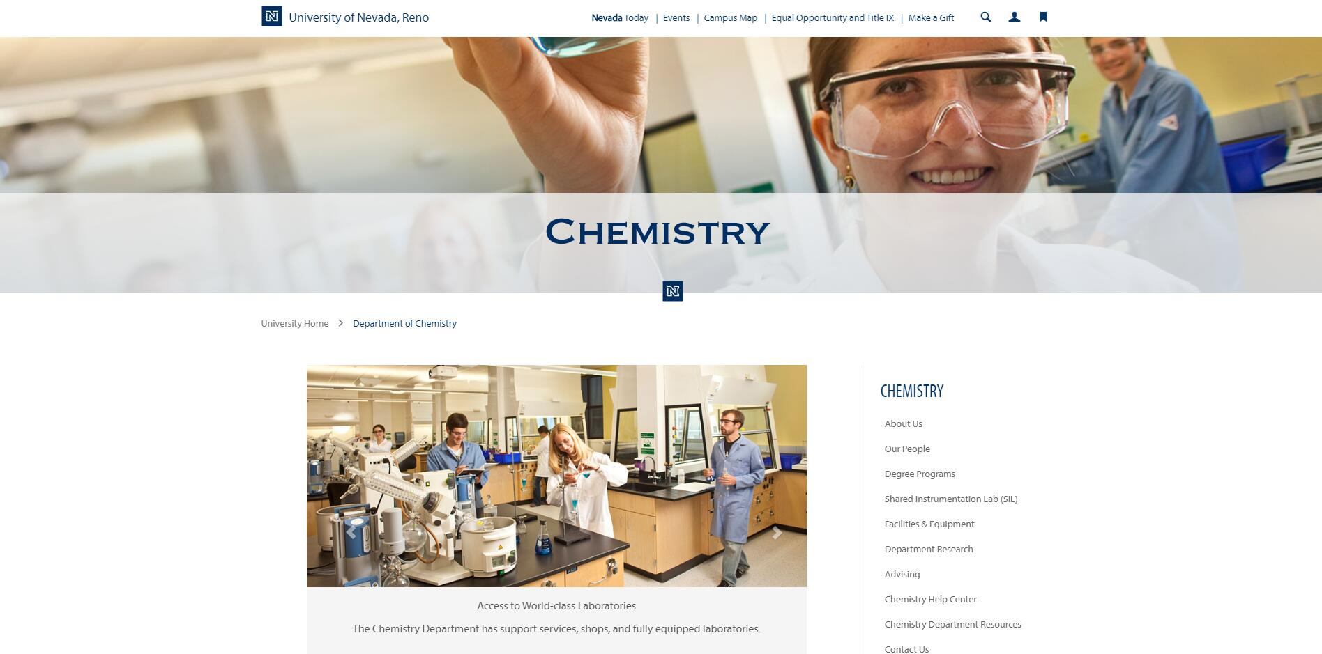Top Chemistry Schools in Nevada
