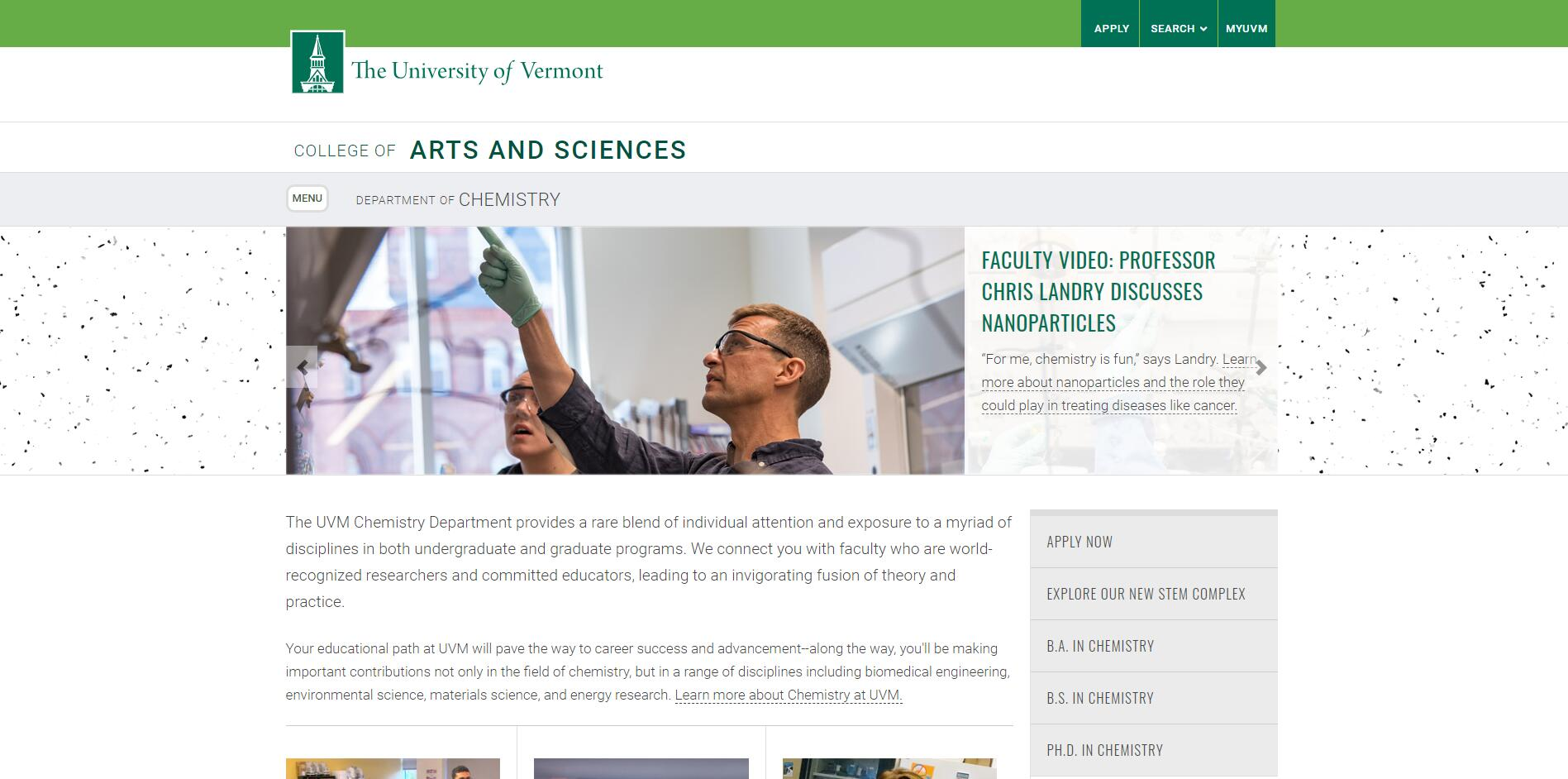 Top Chemistry Schools in Vermont