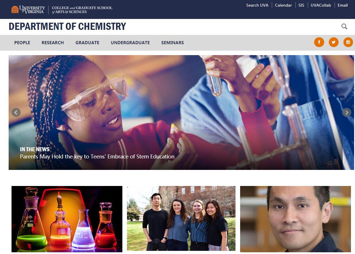 Top Chemistry Schools in Virginia