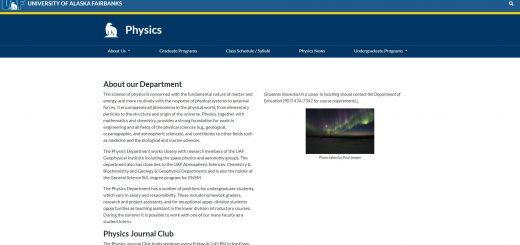 Top Physics Schools in Alaska
