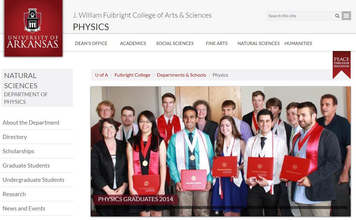 Top Physics Schools in Arkansas