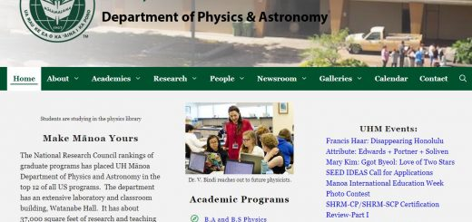 Top Physics Schools in Hawaii
