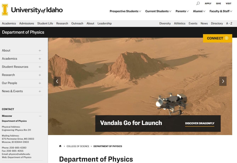 Top Physics Schools in Idaho