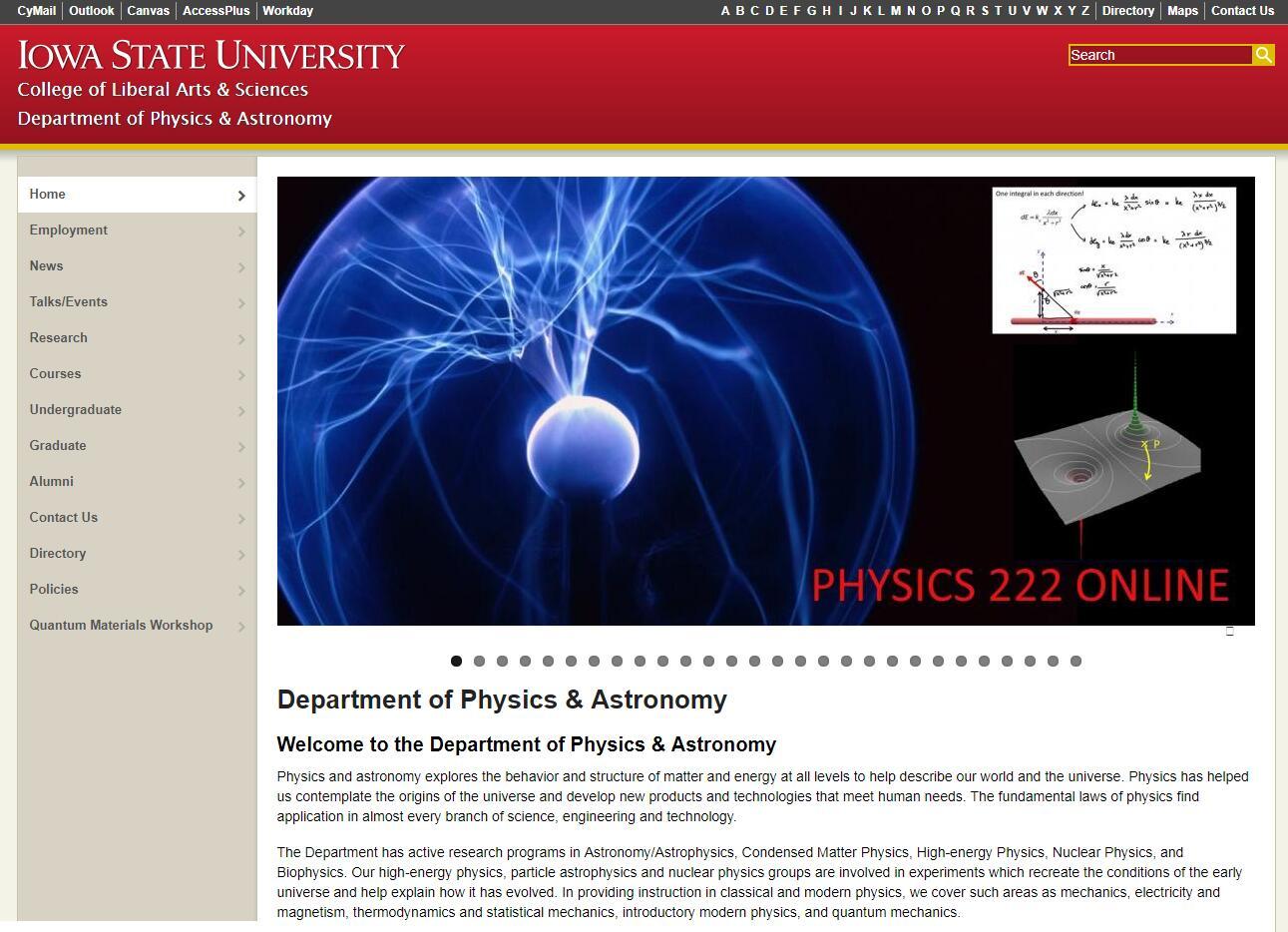 Top Physics Schools in Iowa