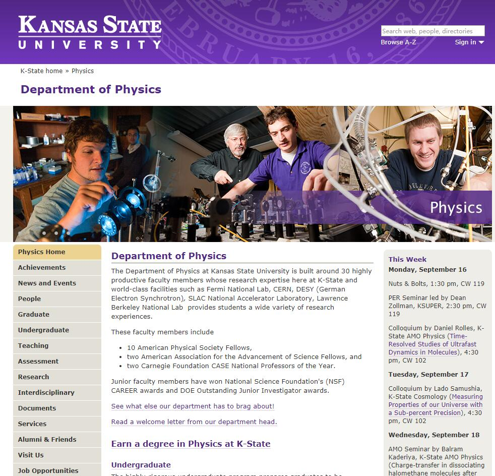Top Physics Schools in Kansas