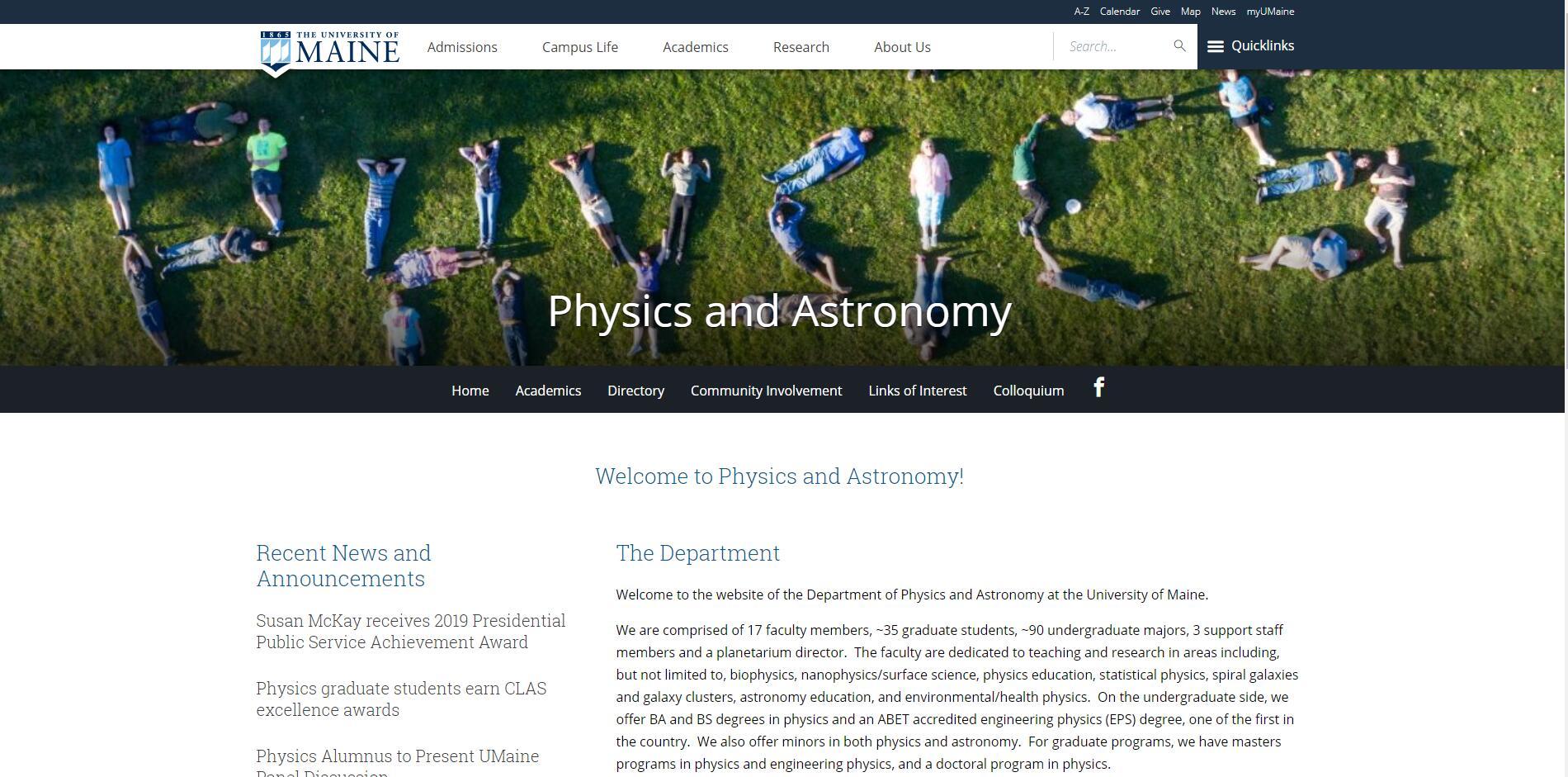 Top Physics Schools in Maine