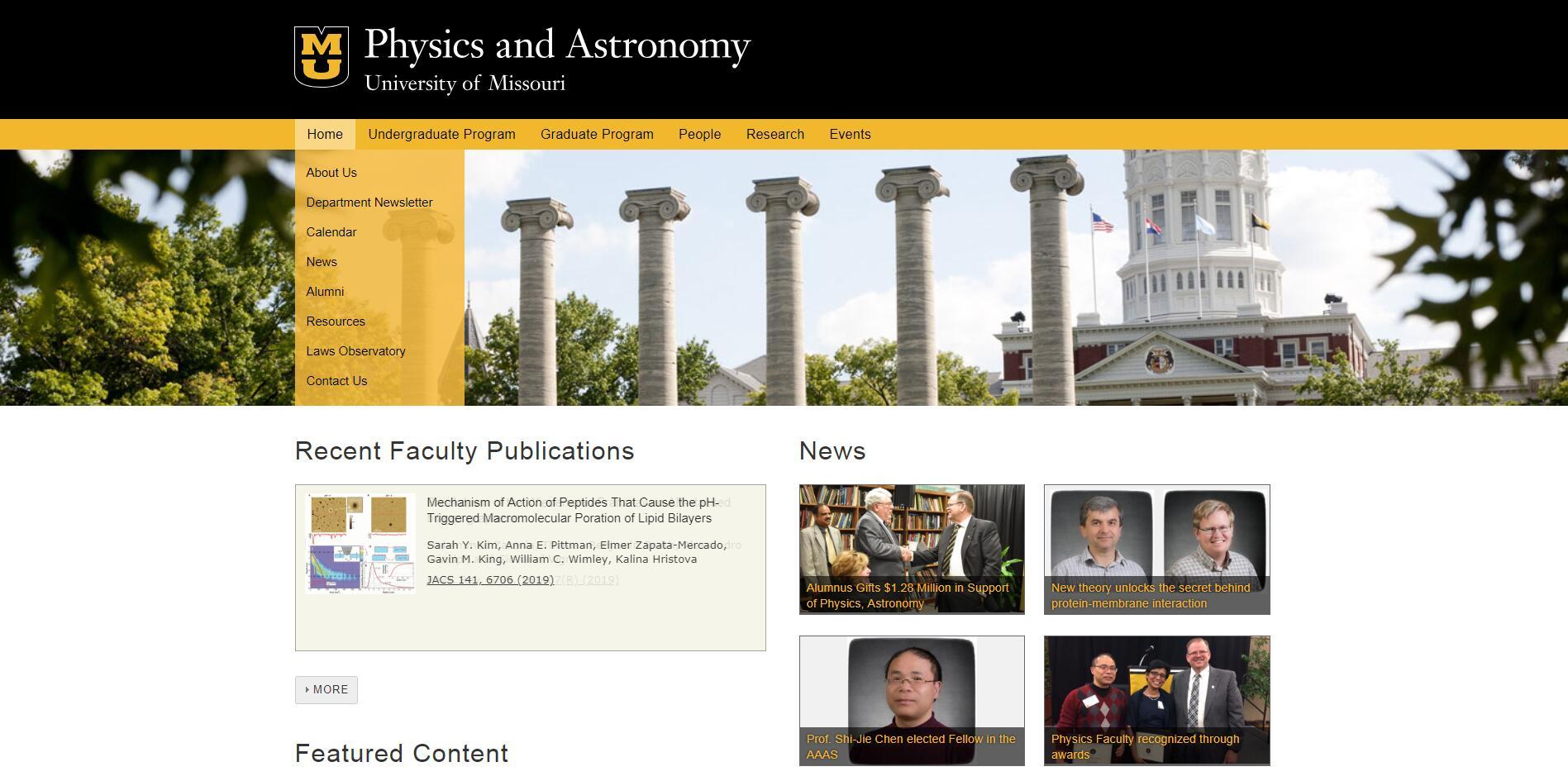Top Physics Schools in Missouri