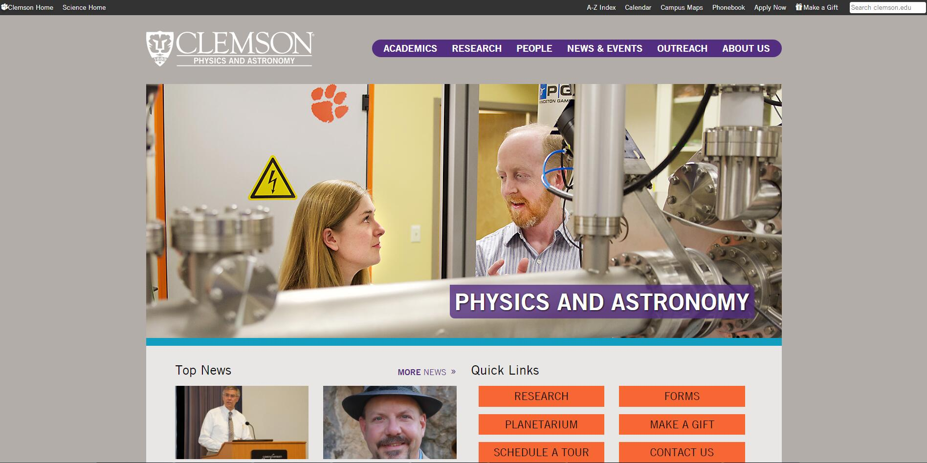 Top Physics Schools in South Carolina