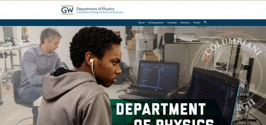 Top Physics Schools in Washington DC