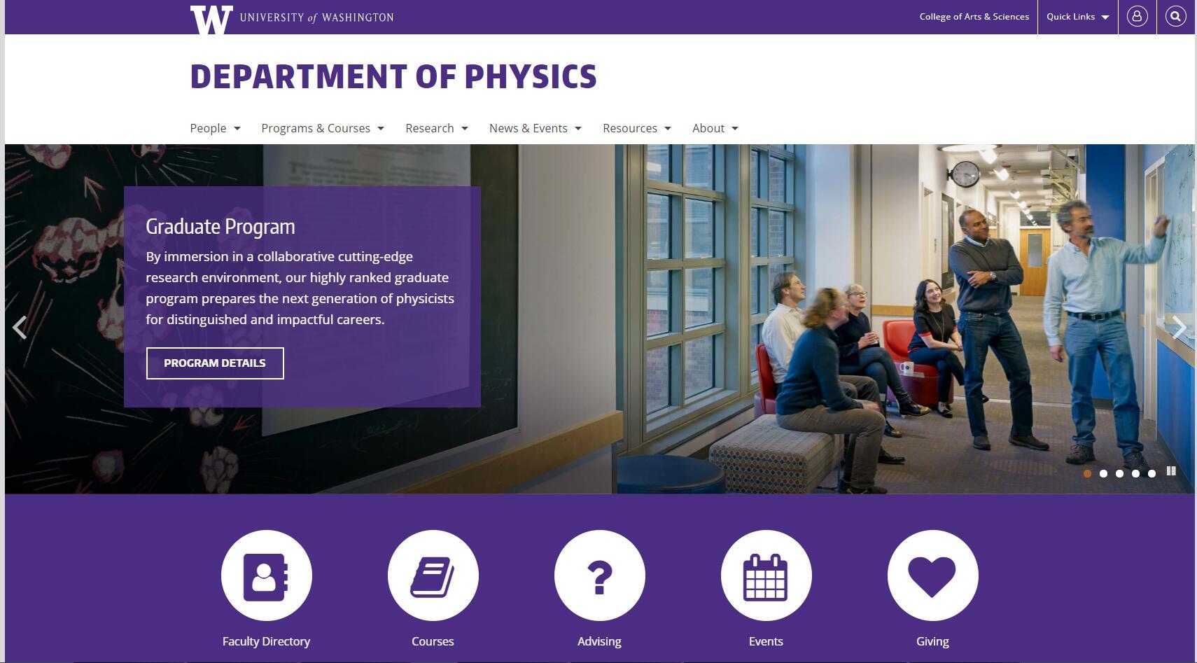 Top Physics Schools in Washington