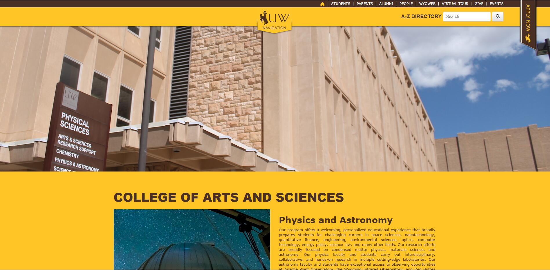 Top Physics Schools in Wyoming