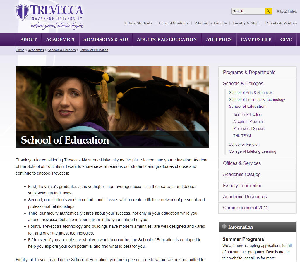 Trevecca Nazarene University School of Education
