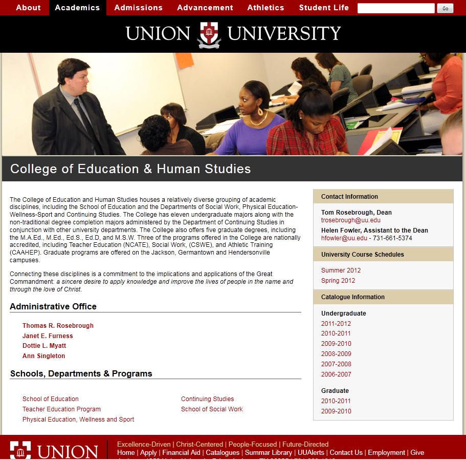 Union University College of Education Human Studies