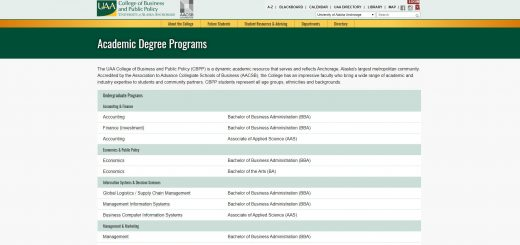 University of Alaska-Anchorage Undergraduate Business