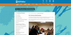 University of Baltimore Undergraduate Business