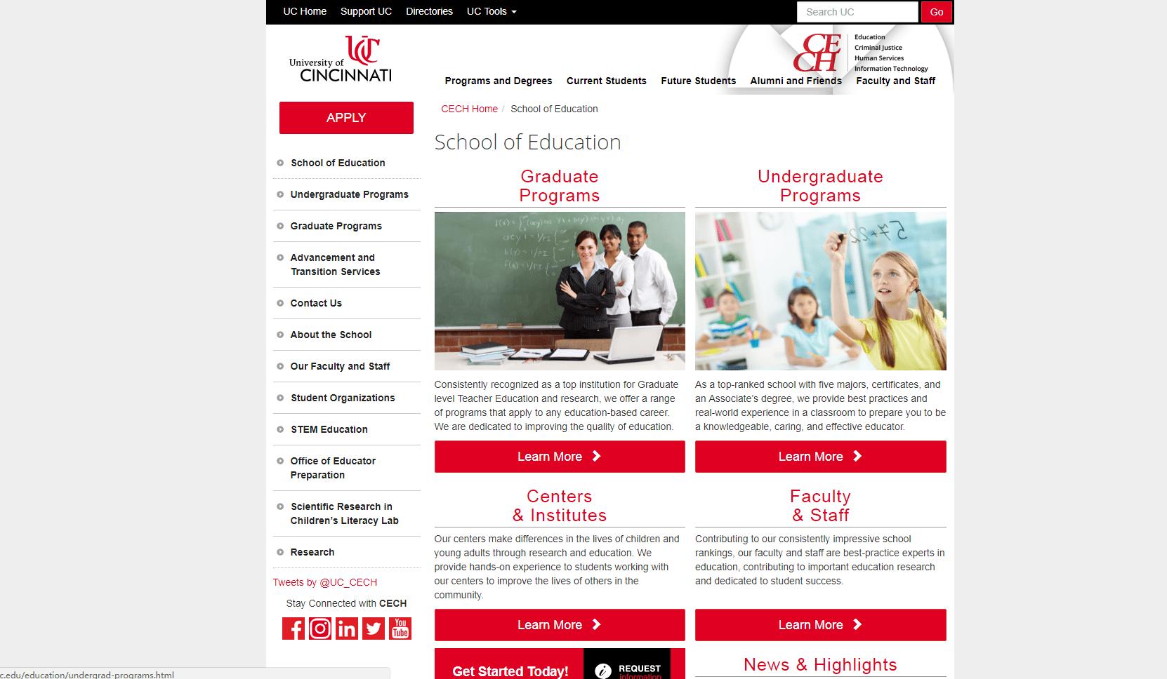 University of Cincinnati School of Education