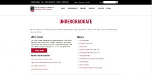 University of Georgia Undergraduate Business