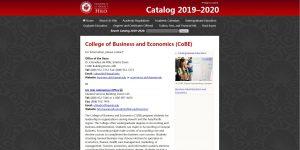 University of Hawaii-Hilo Undergraduate Business