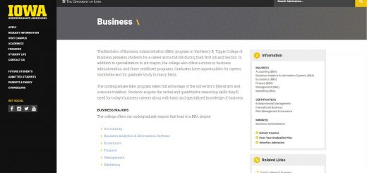 University of Iowa Undergraduate Business