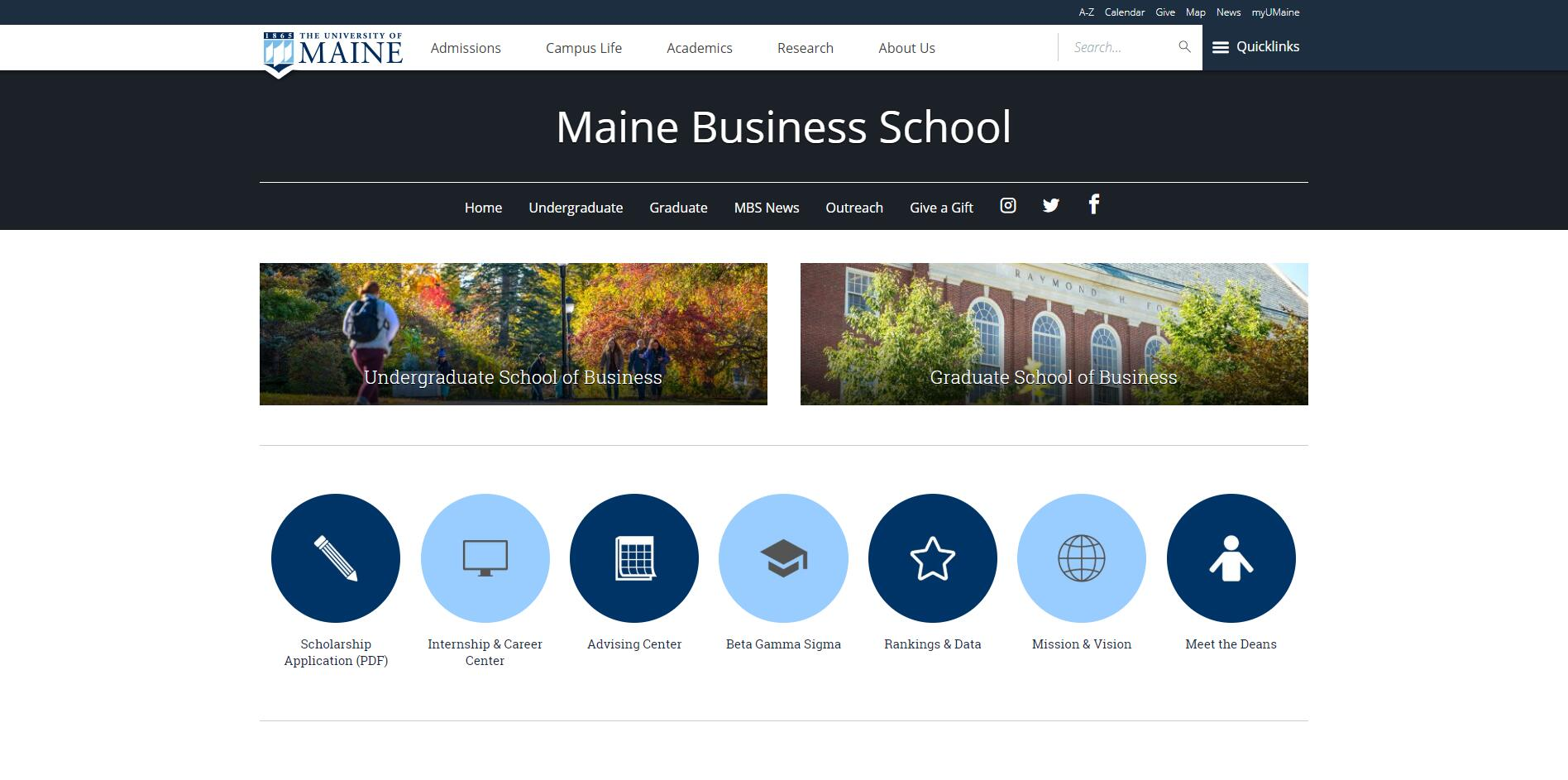 Top BBA Schools in Maine