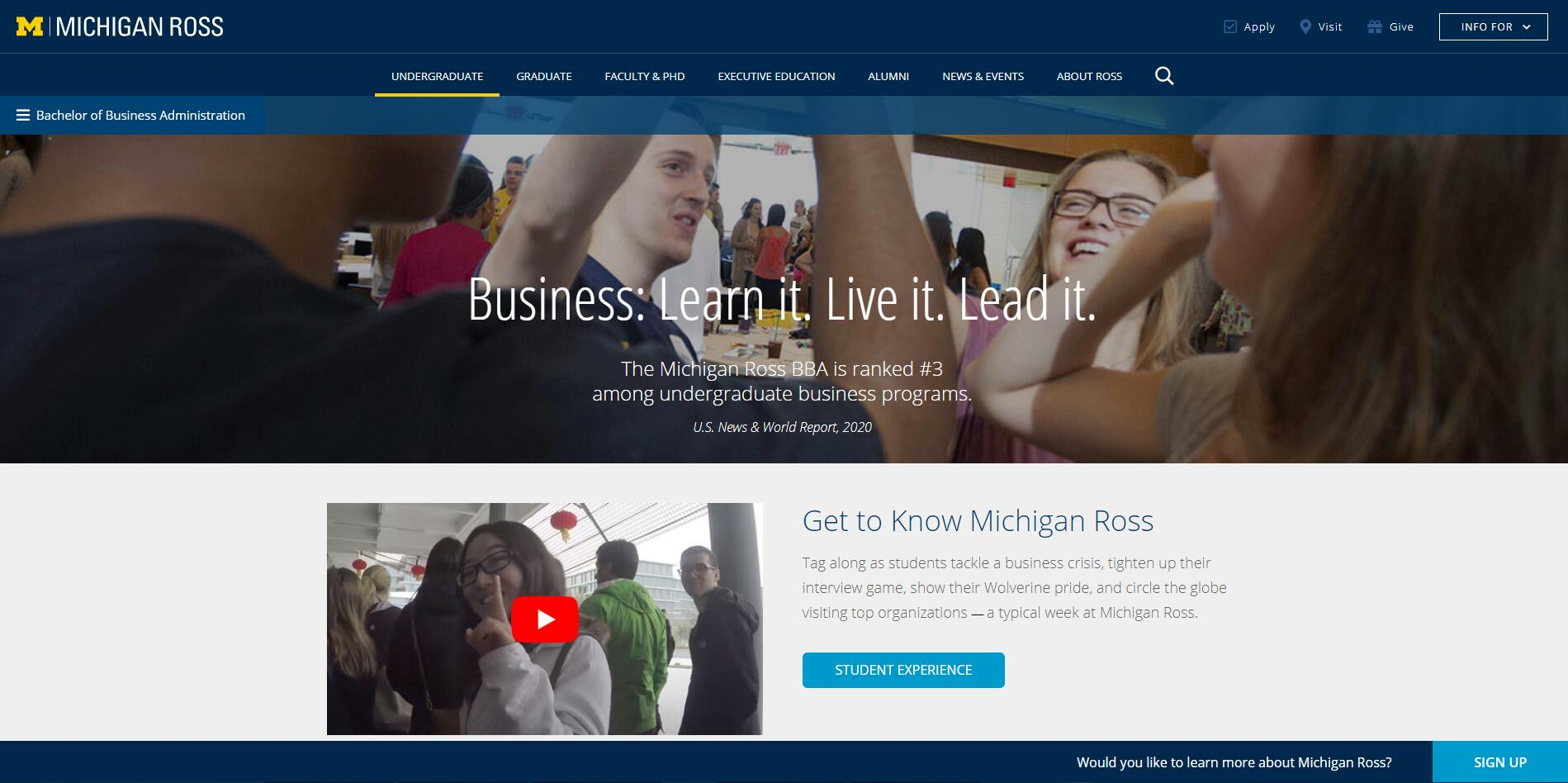 Top BBA Schools in Michigan