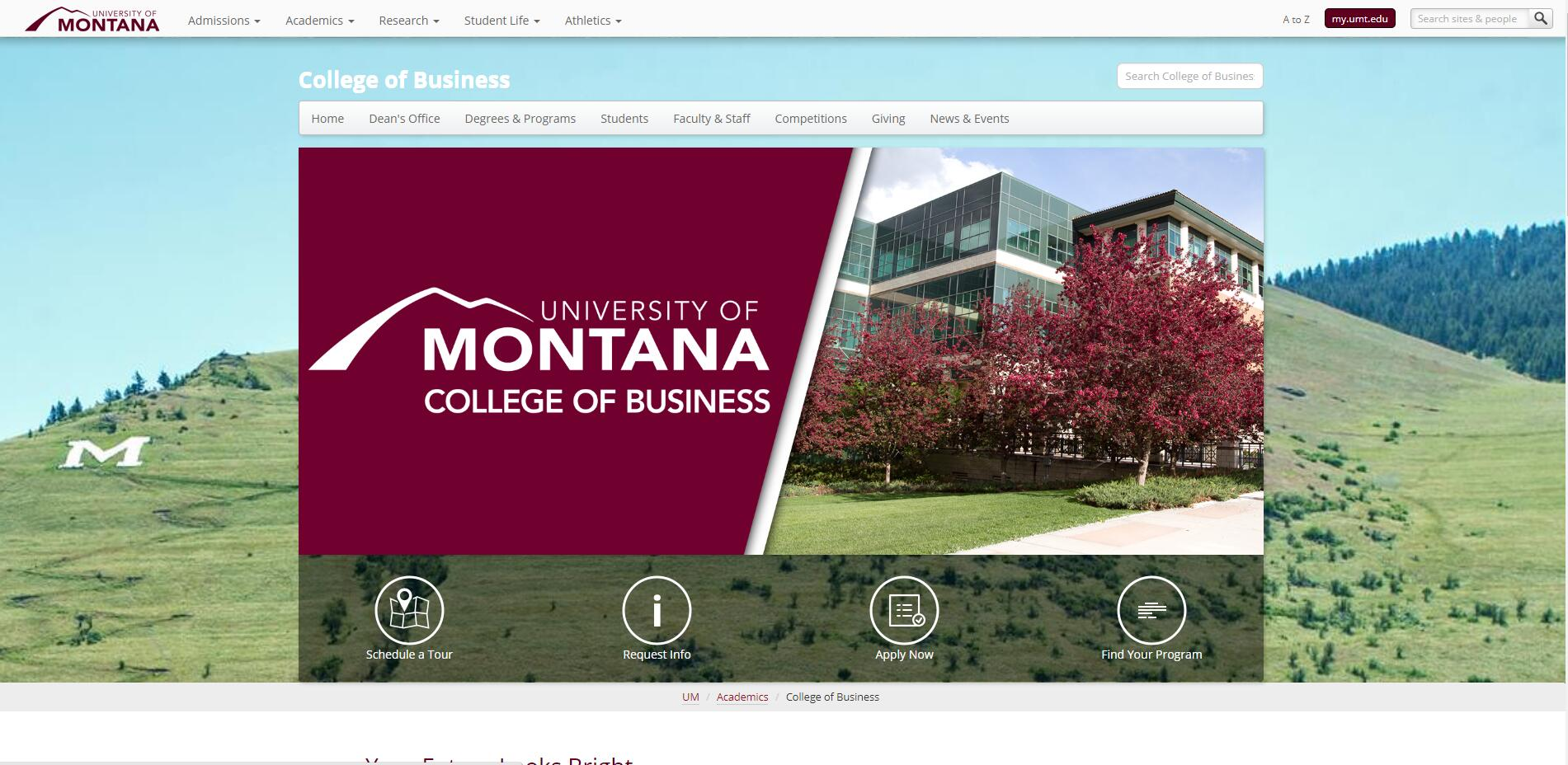 Top BBA Schools in Montana