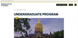 University of Notre Dame Undergraduate Business