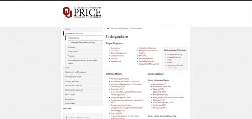 University of Oklahoma Undergraduate Business