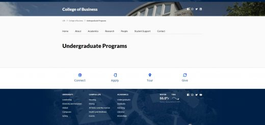 University of Rhode Island Undergraduate Business